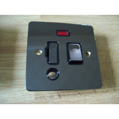 Black Nickel Switch Plate Neon Fused Spur Outlet