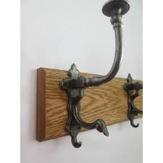 IRONMONGERY WORLD/® 9 Sizes Solid Oak Handmade Wooden Coat Rack Hanger Hanging PEGS Rail 104 6 Hooks- 68CM