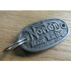 Norton Manx Racking Cast Iron Key Ring
