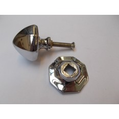 Octagonal Centre Door Knob Polished Chrome