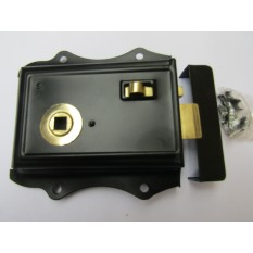Steel Olde Latch Black + Brass