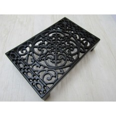 "9"" x 6"" Ornate Decorative Air Brick Black Antique"