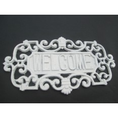 Ornate Country Cottage Welcome Sign