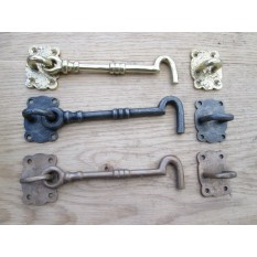Ornate Hook & Eye Door Latch
