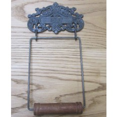 Ornate Decorative Toilet Roll Holder Antique Iron