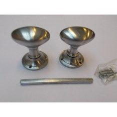 Mortice Door knob Satin Chrome Oval