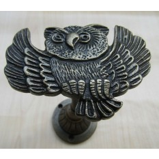 Owl Curtain hold back Antique Brass