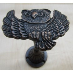 Owl Curtain hold back Antique Copper