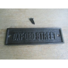 Oxford Street Cast Iron Plaque
