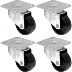 Pack of 4 light duty castors 40mm