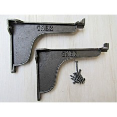 "Pair of 6"" GNER LIPPED Antique Cast Iron Shelf Bracket"