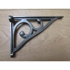 "Pair Of 7"" Ashwell Scroll Shelf Brackets Antique iron"