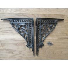 PAIR of Cast Iron Vintage Victorian ornate shelf Bracket Sink Toilet Cistern