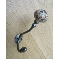 Pumpkin Ceramic Coat Hook Large Patterned