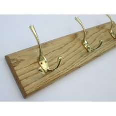 Polished Brass Liberty Coat Hook Rail