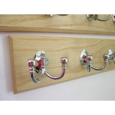 Polished Chrome Double Ball End Coat Hook Rail