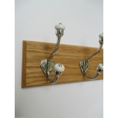 Polished Chrome Gloucester Coat Hook Rail