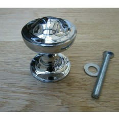 Victorian Centre Door Knob Polished Chrome