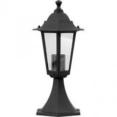 Black Pedestal Lantern Light