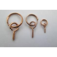 Picture hanging screw split rings