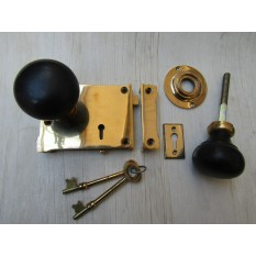 East Lake Rim Lock & Plain Bun Ebony + Brass Set