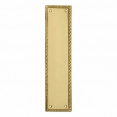 Plain Georgian Polished Brass Finger Plate