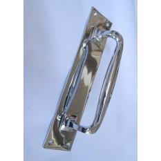 """Plain Handle on Plate Cranked polished chrome 12"""""""