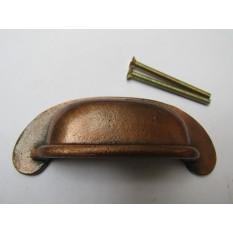 Plain Lipped Rear Fix Cabinet Handle Antique Copper