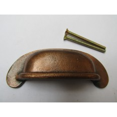 Lipped Rear Fix Cup Pull Handle Antique Copper
