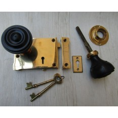 East Lake Rim Lock & Bun Rimmed Ebony + Brass Set