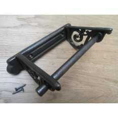 Plain Scroll Toilet Roll Holder Antique Iron