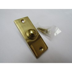 Plain Victorian Slim Bell Push Polished Brass