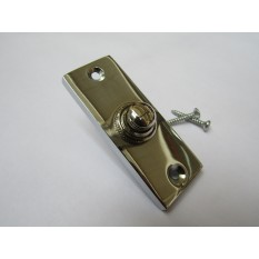 Plain Victorian Slim Bell Push Polished Chrome