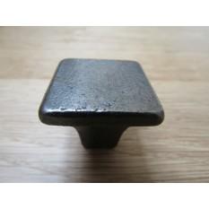 Plain square shaker cabinet knob antique iron