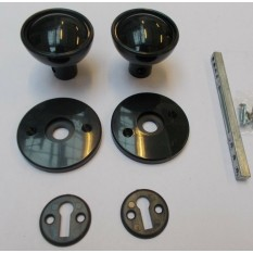 Rim Door knob set Shed rim Black