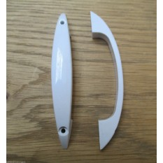 "Pair Of 4"" White Plastic Retro Handles"