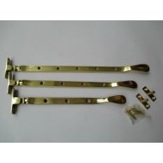 Polished Brass Casement Stay Arm 12""
