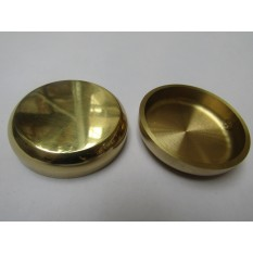 Pack Of 4 Castor Cups Polished Brass