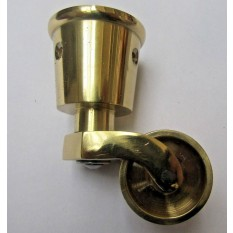Furniture Swivel Wheel Cup Castor Polished Brass