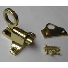 Polished Brass Attic Fanlight Catch