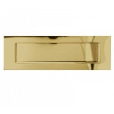 "10 x 4"" Plain Letter Plate Polished Brass"
