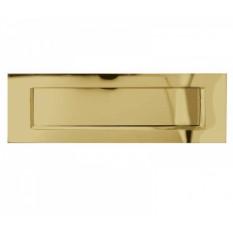 "12"" Plain Letter Plate Polished Brass"