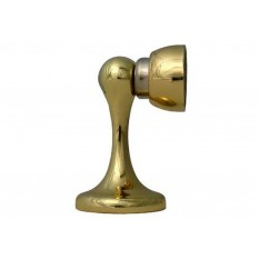 Magnetic Door Stopper Polished Brass