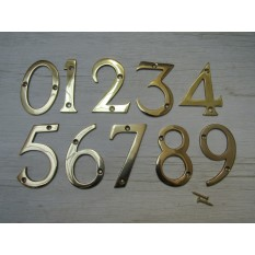 "3"" Polished Brass Number 5"