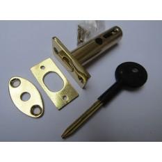 Polished Brass door Rackbolt + Key