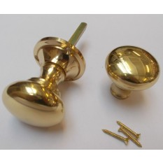 Rim Knob set Victorian Polished Brass