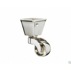 Furniture Square Cup Castor Polished Chrome
