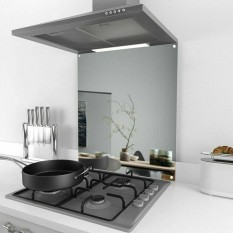 Cooker Splash back 600mm x 800mm Polished Steel