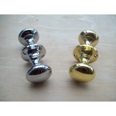 Polished Victorian Styled Mortise Knobs
