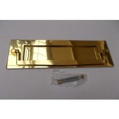 """12"""" Postal Door Knocker Polished Brass"""